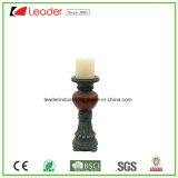 Suporte decorativo de vela de pilar Polyresin para decoração de mesa e ornamentos de jardim