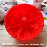 Silicone vermelho do cozimento da forma da flor do silicone Non-Stick da Europeu-Classe