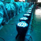 Iluminación RGBW 4in1 Etapa PAR LED 18x10 DJ del disco del acontecimiento
