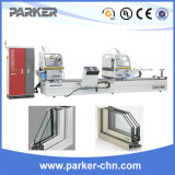Aluminiumlegierung-Fenster-Tür-Doppelt-Kopf-Ausschnitt-Maschine mit CNC
