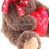 Kundenspezifisches angefüllte Tier-Teddybär-Valentinsgruß-Tagesgeschenk