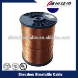Polyimide esmaltó el alambre de aluminio revestido de cobre