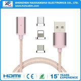 Cable de carga 2017 del USB del imán para el tipo micro C del iPhone del USB