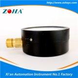 4 polegadas de tipo económico geral aço preto manómetros de pressão com conector de Latão