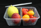 Reusável Eco-Friendly Microwavable PP Rectangular Plastic Food Storage Container