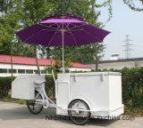 Elektrisch sta Kar de Met drie wielen van het Roomijs van de Ijslolly van het Pedaal in Straat bij