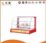 L'équipement pour garder les aliments au chaud petite vitrine de réchauffement
