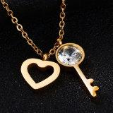 Collana di diamante a forma di del nuovo di modo dei monili cuore dell'acciaio inossidabile