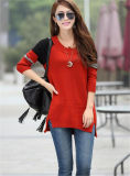 Свитер женщины пуловера корейского круглого Knitwear шеи верхний свободный связанный