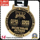 Медаль спорта поднятия тяжестей логоса сплава цинка Die-Casting