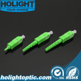 Зеленый цвет Sc APC набора разъема оптического волокна