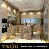 Kundenspezifische gebrauchsfertige Schränke mit europäischem Kücheentwurf Tivo-0050h