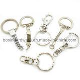 Anello chiave spaccato del metallo con gli accessori Chain