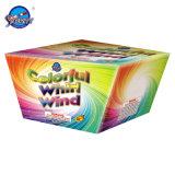 49 Schüsse 1 Zollbunter Whirl-Wind-Feuerwerk-Kuchen