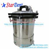 Esterilizador portátil de acero inoxidable Esterilización de la olla de presión dental con grifo 18L