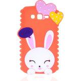 Cassa sveglia del telefono del gel del silicone del coniglietto del coniglio 3D