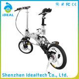 Bicicletas de dobramento personalizadas da cidade do guiador de borracha de 12 polegadas