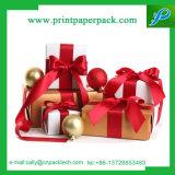 Vakje van het Lint van de Zijde van het Vakje van het Document van de Cake van de Verpakking van het Karton van het Vakje van de gift het Vakje Afgedrukte