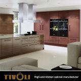 Fundamentele Gelamineerde Keukenkasten met het ontwerp van de Manier van de Fabrikanten tivo-0087h van de Keukens van de Begroting