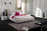 Спальня итальянской кожаный кровати кристаллов самомоднейшая (SBT-5816)