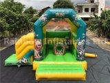 Bouncer combinato di divertimento gonfiabile della giungla con la trasparenza staccabile