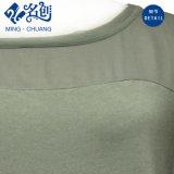 Newstyle Misch-Farbe Kurz-Hülse Hoch-Stutzen Dreieck-Punkte Slimmering-Taille Form-Kleid