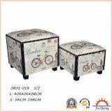 Домашняя мебель набор из 2 ткань чемодан деревянный ящик для хранения и подарочная упаковка