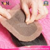 Do estoque barato médio do fechamento do laço da peça da venda por atacado 3.5X4 do fechamento do laço do cabelo de Facebeauty partes baixas de seda brasileiras retas dos fechamentos do cabelo humano do Virgin