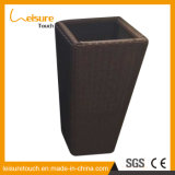 De vierkante Vaas/de Pot van de Bloem van de Rotan van de Opslag van het Meubilair van het Terras van de Manden van de Planter van de Tuin Natuurlijke Handwoven