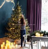 Set von 3 batteriebetriebenen Crackled warmen feenhaftes Licht-Glaskugeln des weißes Weihnachtenled