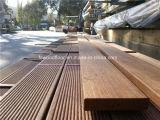 Decking antideslizante de madera sólida de Merbau