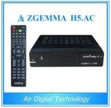 Hevc/H., 265 DVB-S2+ATSC Doppeltuners Zgemma H5. Fernsehapparat-Decoder-Kasten Wechselstrom-Linux OS-E2 FTA Digital