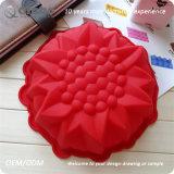Bolo do silicone do alimento do Plumeria do FDA 5cm único para fazer bolos de queijo