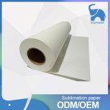 大きいフォーマットの織物のための速い乾燥した100GSM粘着性の染料の昇華熱伝達の印刷紙ロール