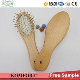 小型ナイロンDetanglingのヘア・ブラシ、赤ん坊の櫛の木製のブラシの毛(JMHF-150)
