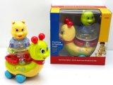 Kind-pädagogisches blinkendes kleines Schnecke-Baby-Plastikspielzeug