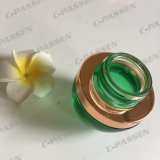 Skincare Packaging (PPC-GJ-014)のための30g暗緑のGlass Cosmetic Jar