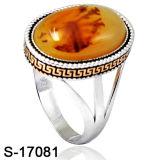 Anello d'argento dell'uomo del commercio all'ingrosso 925 della fabbrica con la pietra