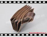 Держатель кредитной карточки дела Brown кожи верхней части Cowhide европейского классического типа трудный