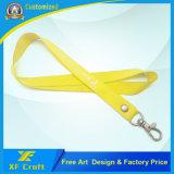 金属のホックおよび自由なアートワーク(XF-LY16)が付いている安いカスタマイズされた締縄ストラップ