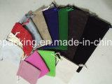 Lado Duplo Preto Saco de jóias de veludo / Saco de presente de promoção