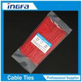 Белый Самофиксирующийся холодной устойчивы Нейлоновые стяжки для кабелей