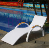 Outdoor PE Rattan Umbrella Leisure Hotel Jardim Piscina Beach Loungers