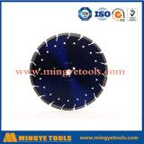Het gesegmenteerde Blad van de Zaag van de Diamant van het Type met Flens voor Scherp Graniet