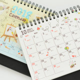 Stampa variopinta del calendario di scrittorio del blocchetto per appunti del diario, calendario murale del Collegare-o
