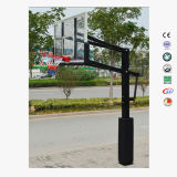 Basket-ball résidentiel Pôle de dans-Prise de masse réglable en gros de hauteur pour le club d'allée