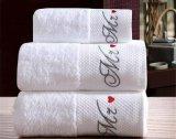 Altas toallas de secado rápido del baño/de cara del algodón del telar jacquar del hotel
