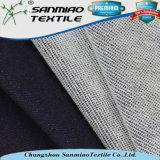 100 Algodão Fleece Style Indigo Knitted Denim Tecido para Camisola