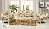 Софа ткани Европ, самомоднейшая живущий мебель комнаты, кровать софы (137)