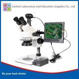 Digitaces Trinocular Stereomicroscope con CCD y LCD para las reparaciones del teléfono celular, examen visual, grabando/ejercicios quirúrgicos